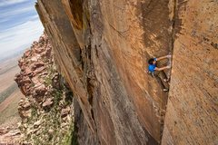 Rock Climbing Photo: Pitch 5 on Desert Solitaire Photo by Dan Krauss