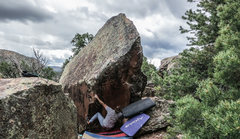 Rock Climbing Photo: Start beta of Felicity.