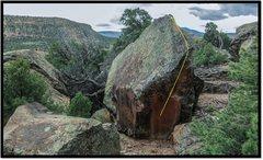 Rock Climbing Photo: Felicity problem beta.