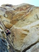 Rock Climbing Photo: Ramping up to the business