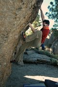 Rock Climbing Photo: Me at Pocketopia, Mammoth Lakes, CA.  Back in 2014