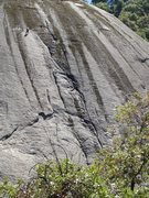 Rock Climbing Photo: Lower climber is at a good spot to rig a 3rd pitch...