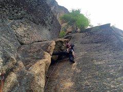 Rock Climbing Photo: Melissa enjoying p2