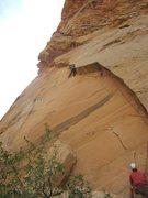 Rock Climbing Photo: Approaching second crux