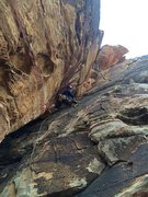 Rock Climbing Photo: So happy till she got to the chimney