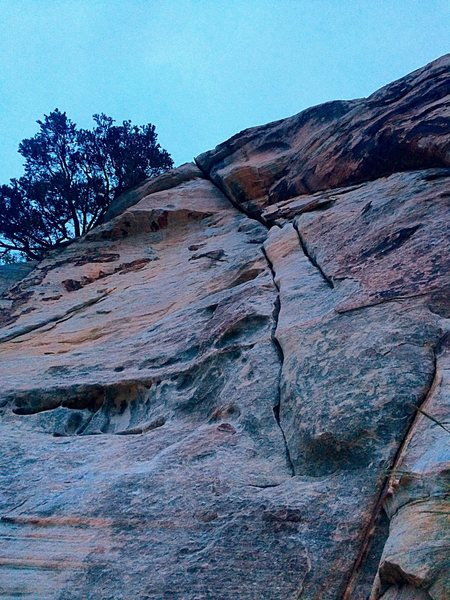 Looking up at Karate Crack
