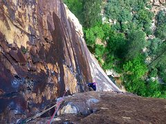Rock Climbing Photo: The beautiful third pitch