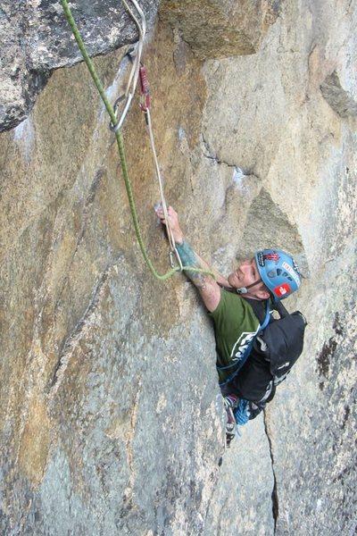 Rock Climbing Photo: the sub crux hardish move