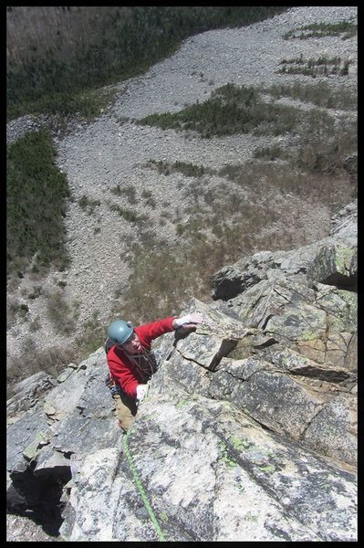 Rock Climbing Photo: toward the top