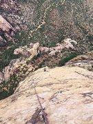 Rock Climbing Photo: Melissa enjoying the upper face climbing on a beau...
