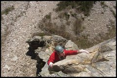 Rock Climbing Photo: finishing the pipe pitch