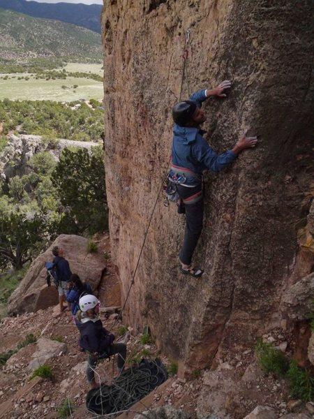 Rock Climbing Photo: Dave just getting through the balancing start.