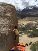 Rock Climbing Photo: Climbing at the Buttermilks in Bishop, CA