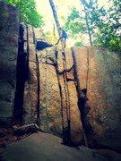 Rock Climbing Photo: Upper Cliff Obscene Phone Call 5.8