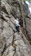 Rock Climbing Photo: I believe this is the route at the 2nd bolt.  Can ...