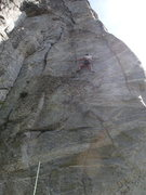 Rock Climbing Photo: The Testes Test - Eli in the middle section.