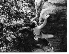 Rock Climbing Photo: JJ Schlick finishing up Secret Agent Man, spring 1...