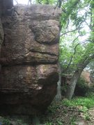 Rock Climbing Photo: The route is more or less the obvious face and ar�...