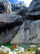 Rock Climbing Photo: lagoon at trinidad sur cochamo valley