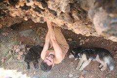 Rock Climbing Photo: Spot me!! (Well, not really me...)