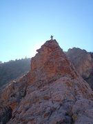 "Rock Climbing Photo: An old one of me on top of ""Pharaoh's Hat&quo..."