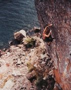 Rock Climbing Photo: Dave Groth off Palisaid 5.13-, Palisade Head, MN 1...