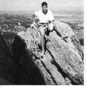 Rock Climbing Photo: Somewhere on Devils Tower, WY 1995.