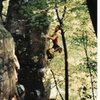 firing up The Big Bud Arête V3, Devils Lake, WI 1998.