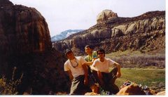 Rock Climbing Photo: JJ, Jessie, Seth, Battle of the Bulge Buttress, In...