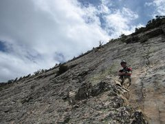 Rock Climbing Photo: 2007- On the slabs--One of my earliest climbs (not...