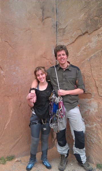 Our first climb ever on Wallstreet (2011)