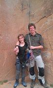 Rock Climbing Photo: Our first climb ever on Wallstreet (2011)