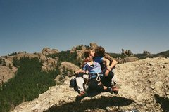 Rock Climbing Photo: An old smooch shot of J-Sexy and I early on in our...