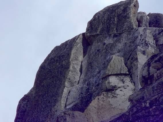 Rock Climbing Photo: Alt 5.8 OW finish starts with low 5th class to lef...