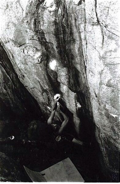 Rock Climbing Photo: Not a good photo, but it does show the beginning o...