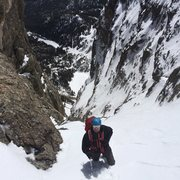 Rock Climbing Photo: Nearing the top of the couloir