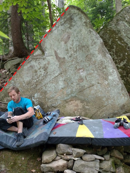 Rock Climbing Photo: Works up the left arete
