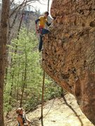 Rock Climbing Photo: Leading a 5.9 in the Red, super fun and enjoyable!...