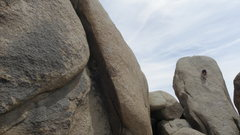 Rock Climbing Photo: Climb up the low angle slab on the backside of Luc...