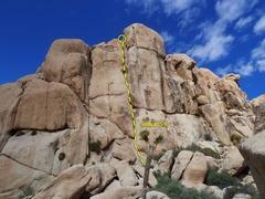 Rock Climbing Photo: Sinagar (5.9), Joshua Tree NP