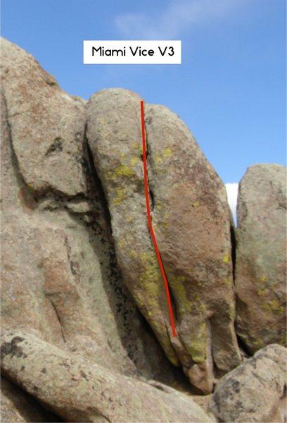 Rock Climbing Photo: Miami Vice.