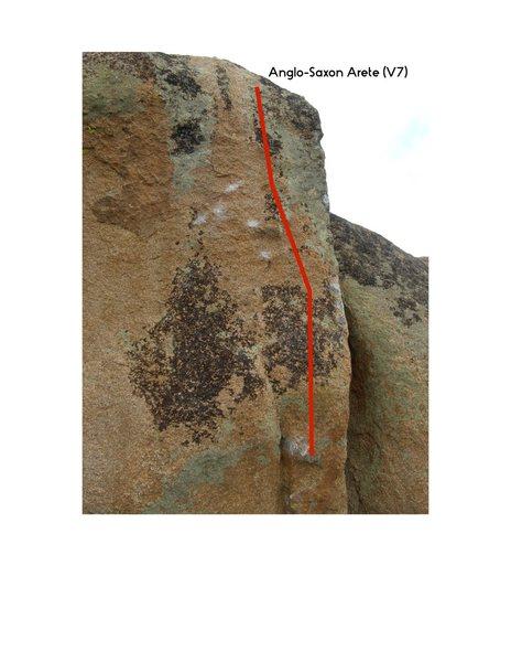 Rock Climbing Photo: Anglo-Saxon Arete.