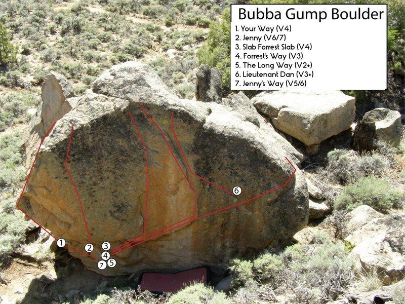 Rock Climbing Photo: Bubba Gump Boulder.