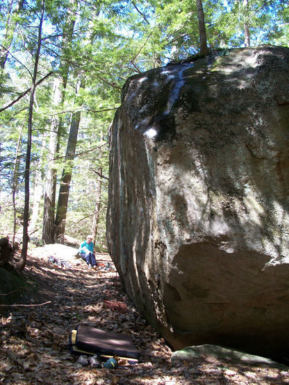 Rock Climbing Photo: The line climbs the face just to the left of the n...