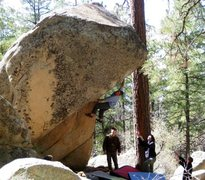 Rock Climbing Photo: Danny Mauz trying to keep calm in the midst of a t...
