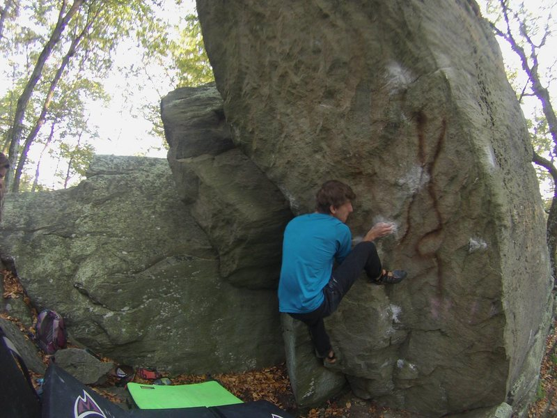 Rock Climbing Photo: Forrest on the cranking