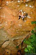 "Rock Climbing Photo: Rebecca Hamilton on ""Antichrist""  Photo:..."