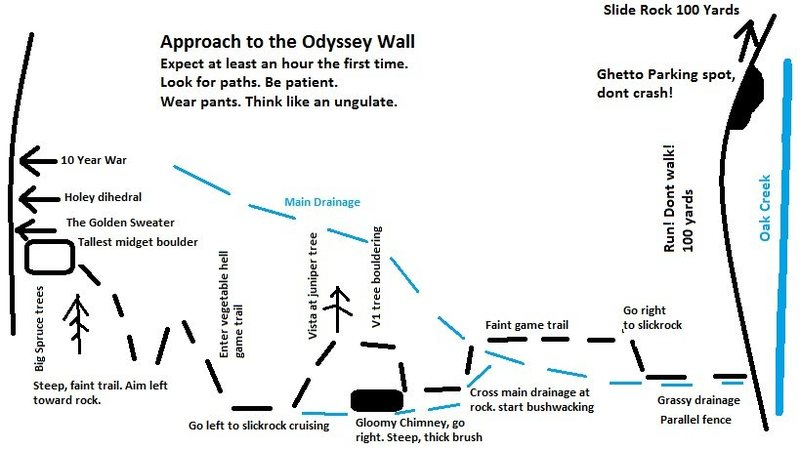 Approach map. It would likely be very helpful your first time up there...
