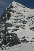 Rock Climbing Photo: Eiger West Flank in April