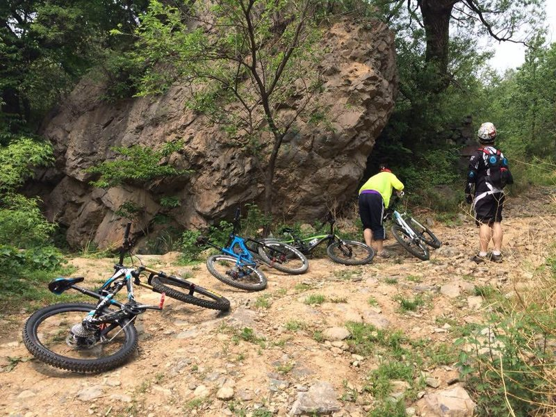 Rock Climbing Photo: Mountain biking in 北京后花园 后白虎涧 Ch...